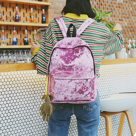 90s Velvet Grunge Backpack