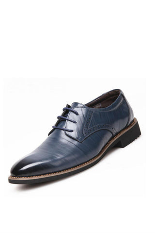 Classic Blue Dress Leather Shoes