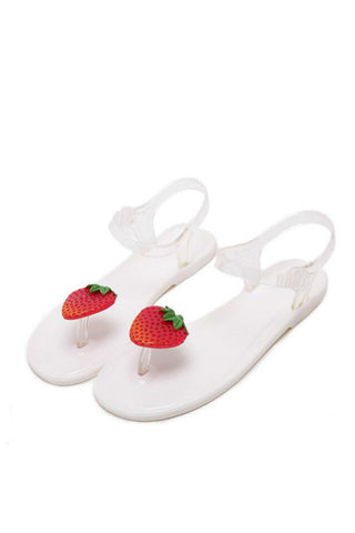 Cute Strawberry Jelly Sandals