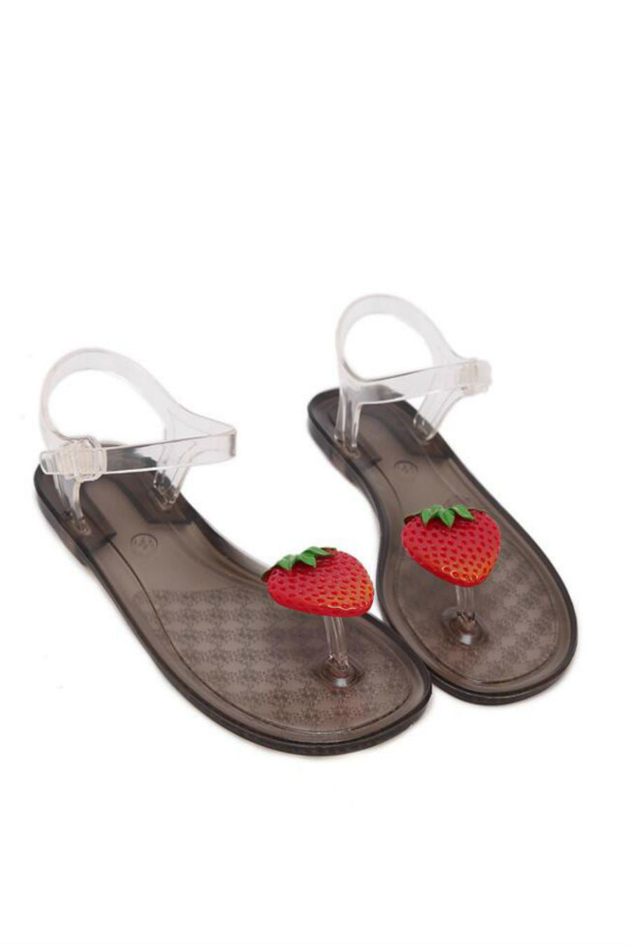Strawberry Clear Jelly Sandals