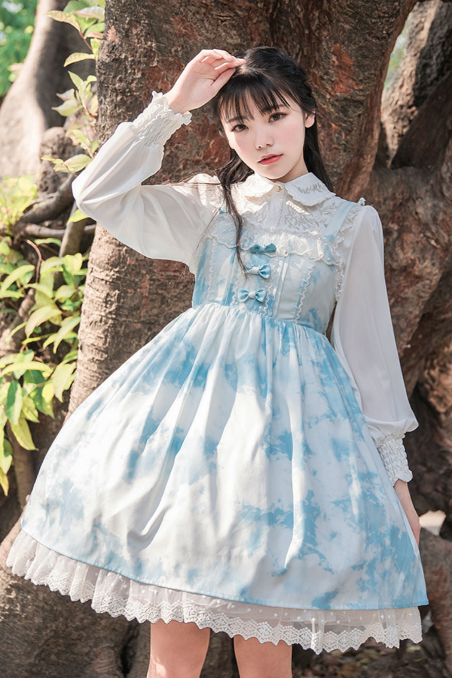 Cute Clouds Bowknot Dress