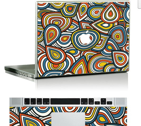 Macbook Colorful Decal Skin Sticker. Art Decals By Moooh!!