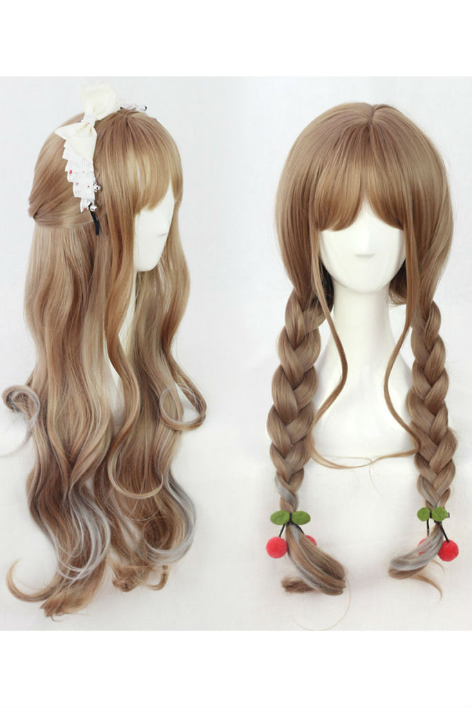 Light Brown Cosplay Curly Wig