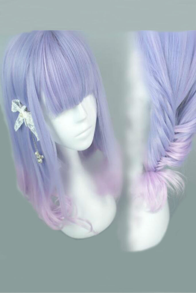 Blue Purple Mixed Cosplay Wig