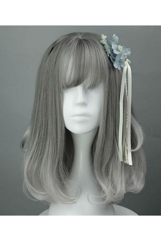 Gray Gradient Mixed Cosplay Wig