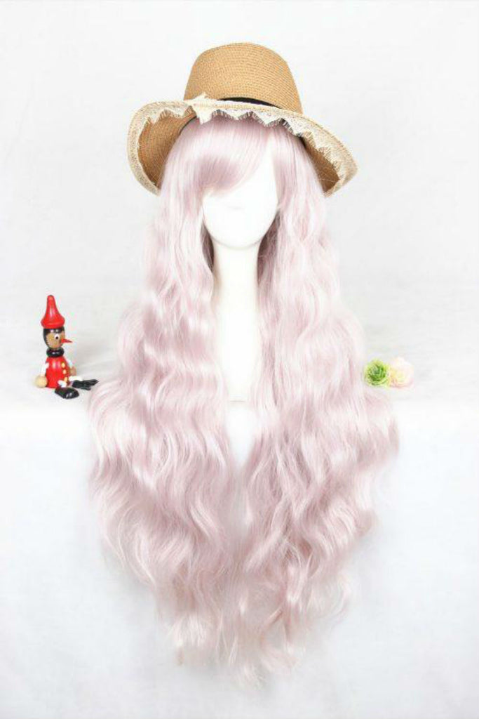 Lolita Pink Curly Cosplay Wig