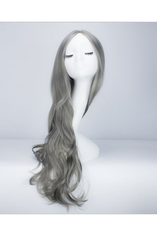 Light Gray Cosplay Curly Wig