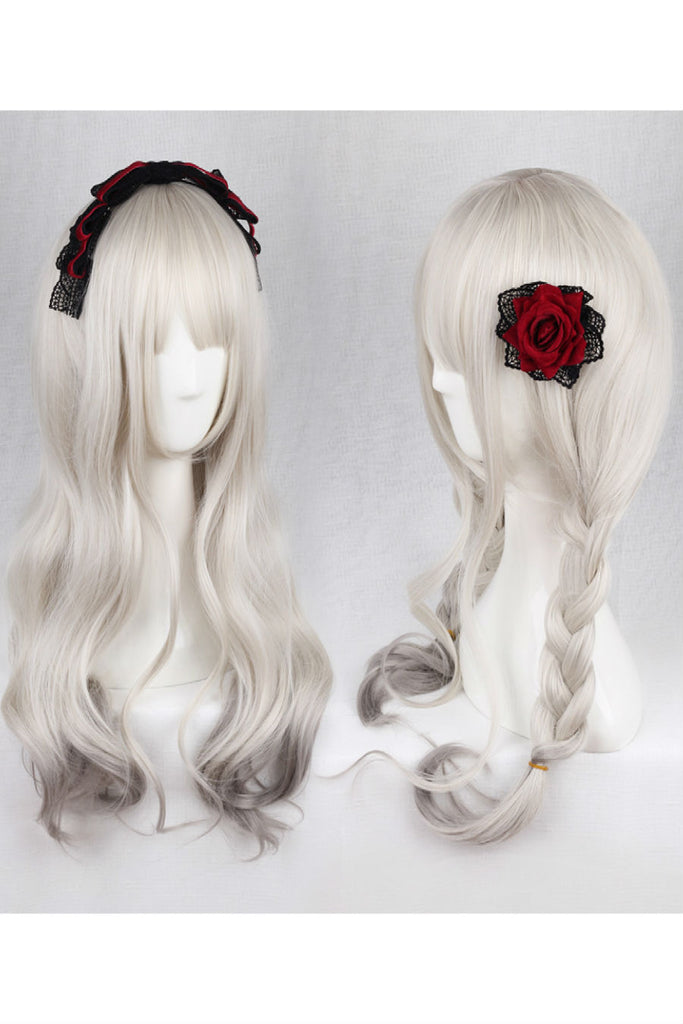 Silver Gray Cosplay Curly Wig