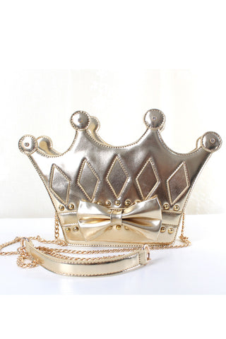 Cute Golden Crown Chain Bag