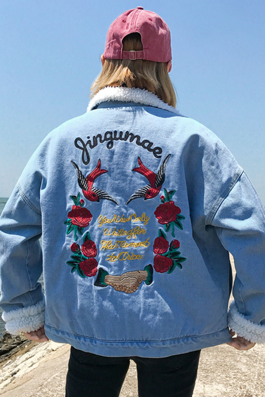 799260b0ed Floral Embroidered Denim Jacket