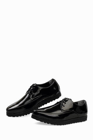 Fashion Patent Shoes In Black