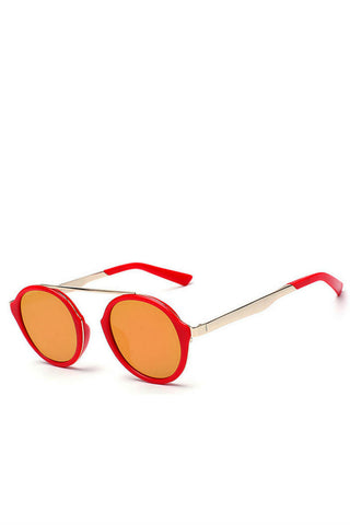 Vintage Red Round Metal Shades