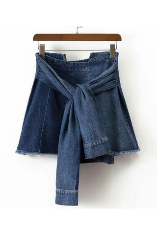 Shirt Stle Denim Skirt