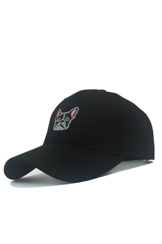 Puppy Dog Embroidered Baseball Hat