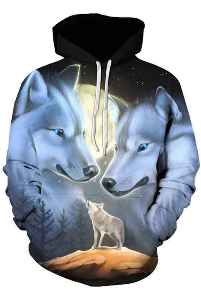 Moon Wolves 3D Hooded Sweater