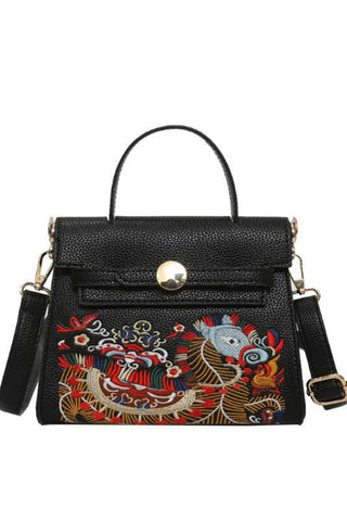 Dragon Embroidered Crossbody Bag