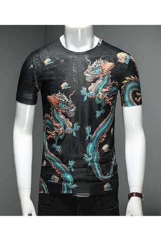 Black Dragon Printed T-shirt
