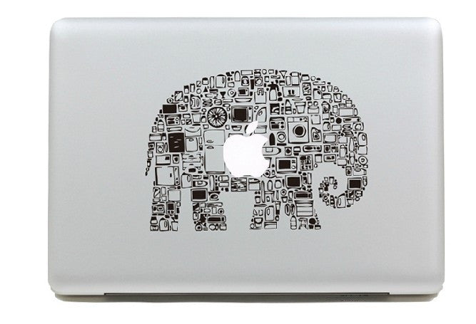 Macbook Elephant Decal Sticker. Art Decals By Moooh!!