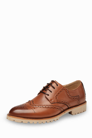 Fashion Brogue Shoes In Brown