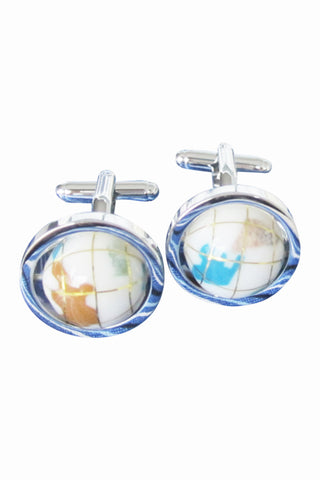 Rotatable Globe Cufflinks For Men