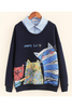 Cat Fake Two Pieces Sweater
