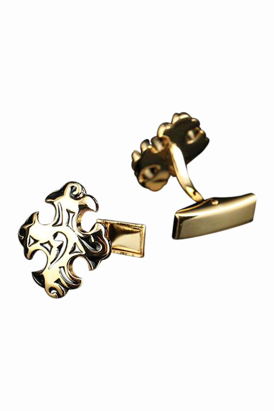 Retro Carved Floral Cufflinks