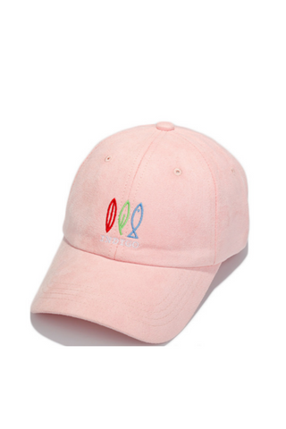 Fish Embroidered Suede Baseball Hat