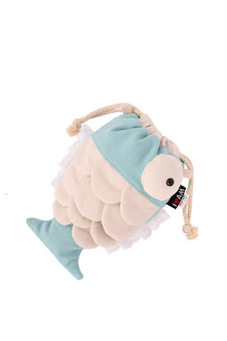 Blue Fish Canvas Clutch
