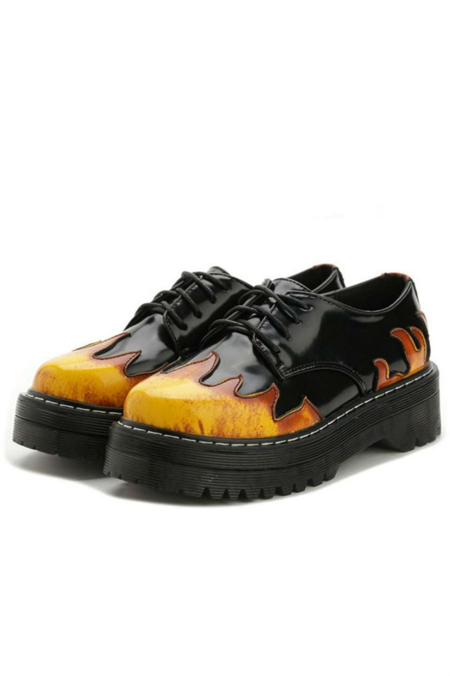 Harajuku Flame Platform Shoes
