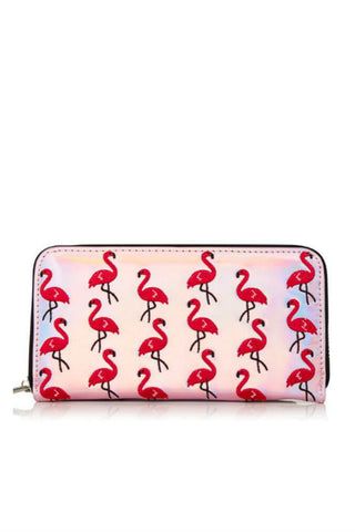 Flamingo Embroidery Wallet