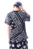 Crew Neck HipHop Paisley Printed T Shirt