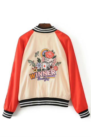 Vintage Floral Embroidery Jacket