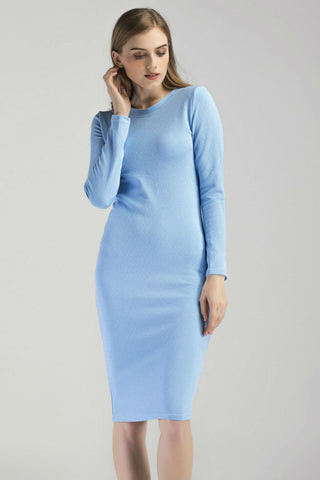 Blue Bodycon Sexy Dress