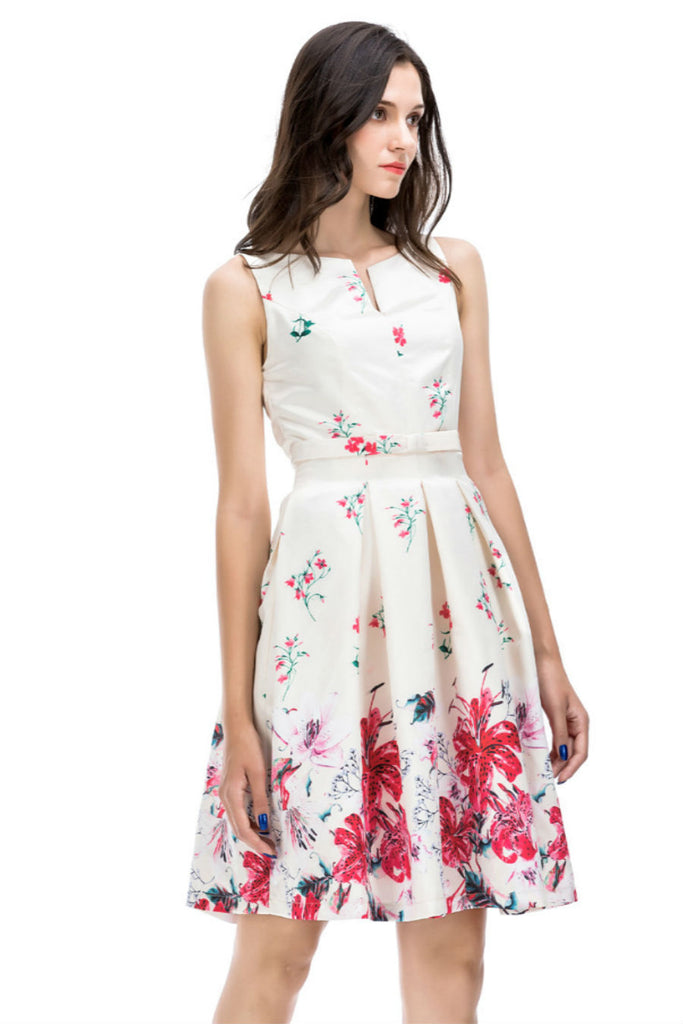 Sweet Floral Party Dress