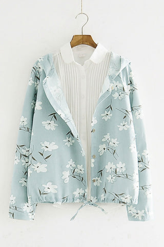 Retro Floral Thin Jacket