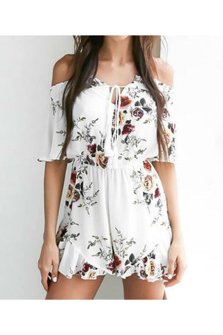 Floral Off The Shoulder Romper
