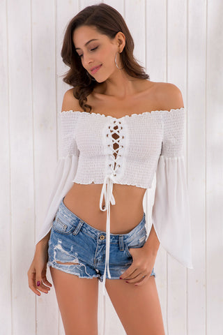 Bandage Off Shoulder Top