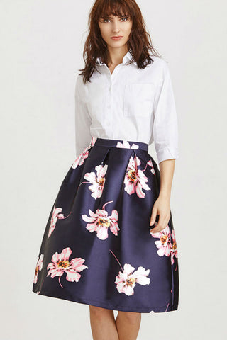 A-line Floral Skirt