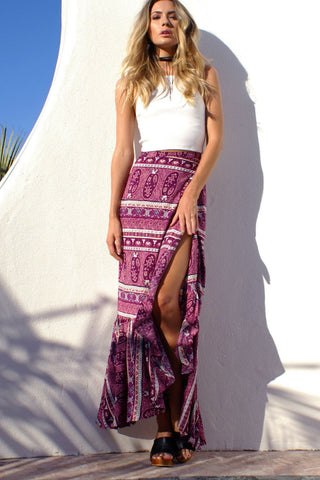 Paisley Boho Long Skirt