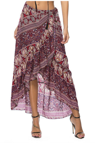 Paisley Irregular Skirt