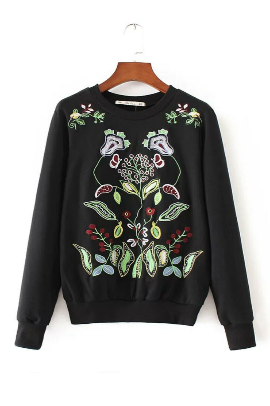 Floral Embroidery Sweater