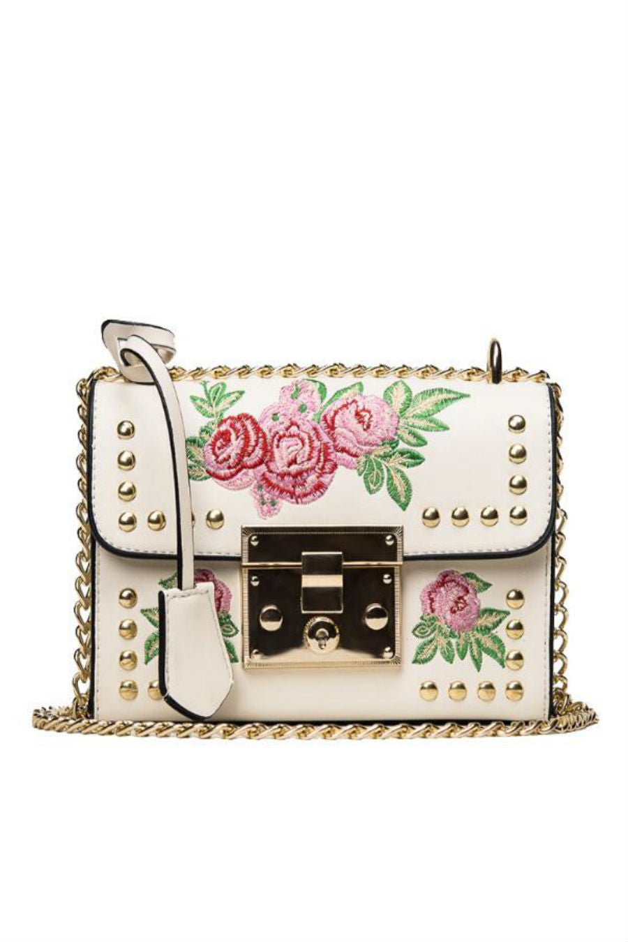Floral Crossbody Chain Bag