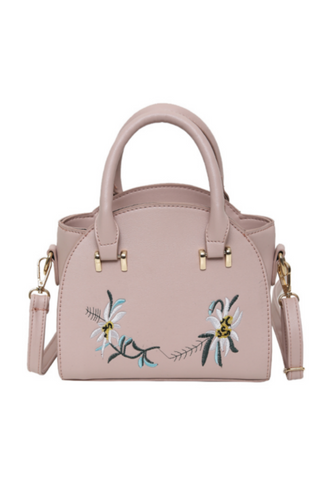 Chic Flower Embroidered Tote Bag