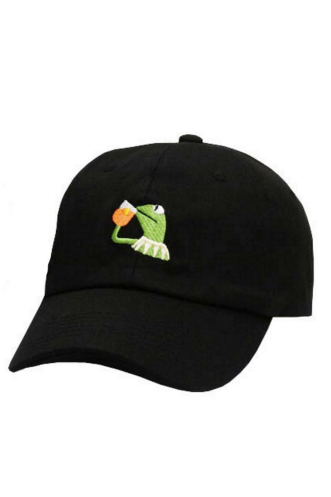 Sipping Tea Frog Baseball Hat
