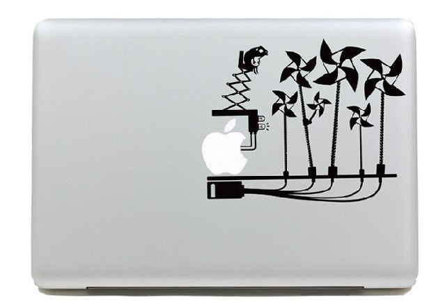 Macbook Girandole Decal Sticker. Art Decals By Moooh!!