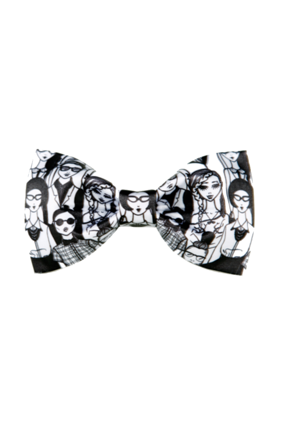 Black White Graffiti Pattern Bow Tie