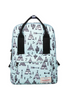 Graffiti Printed Retro Backpack