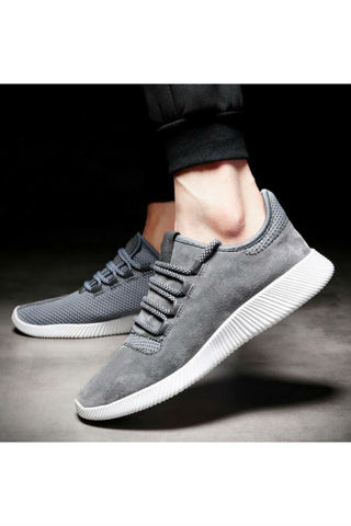 Suede Line Athletic Shoes In Gray