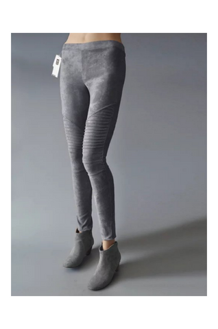 Suede Skinny Pants In Gray