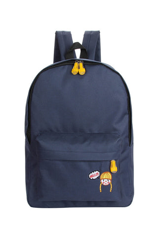 Hello Girl Backpack In Navy